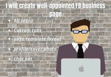 I will create well-appointed fb business page