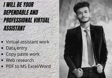 I will be your dependable and professional virtual assistant