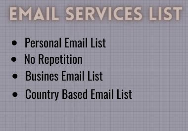 I will provide you 5000 appropriate targeted E-mail list
