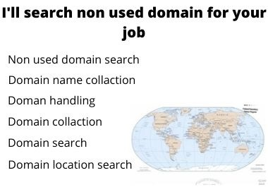 I will searching Non used domain for you