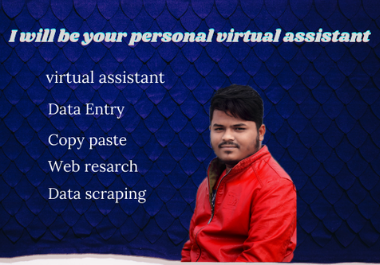 I will be your personal virtual assistant for any kind of task.