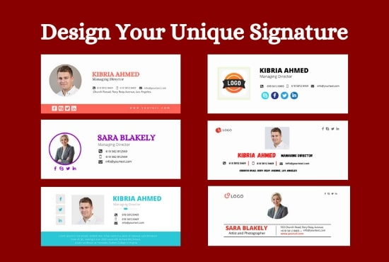 I will create a clickable HTML email signature for outlook,  gmail etc