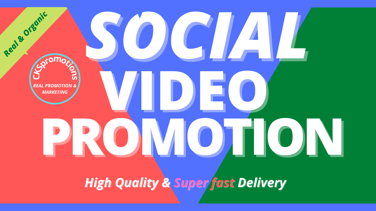 Get Genuine Video Post Promotion High quality and Super Fast Delivery Social Media Advertise