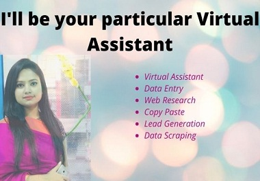 I'll be your particular Virtual Assistant