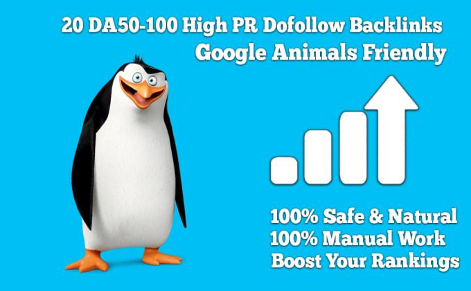 will create 20 DA90-100 High PR Dofollow Backlinks