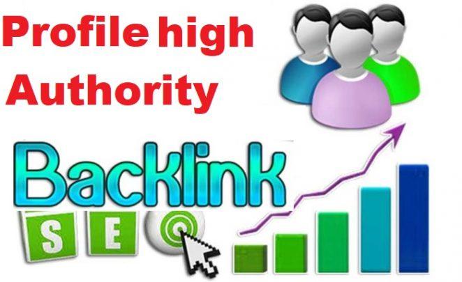 30 high authority profile dofollow backlink