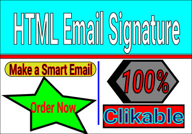 I create a smart & standard clickable email signature within a day or short time