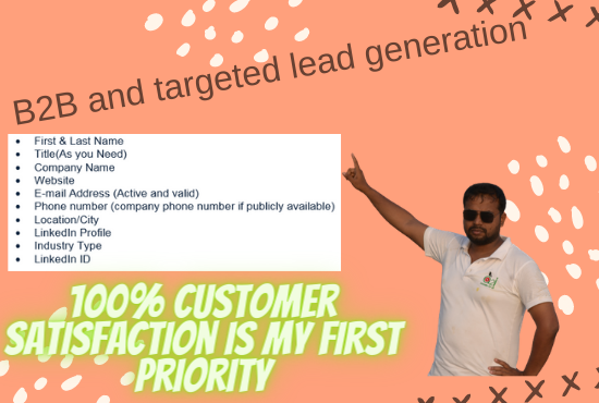 B2B and targeted lead generation service