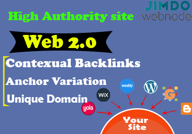 Ranking your site with high authority domain, manually created web2.0