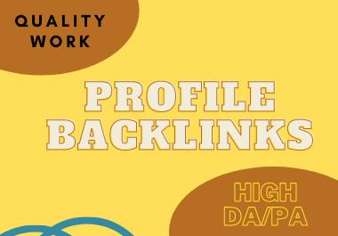 Get manually30 do follow profile backlinks