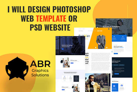 I will design any photoshop web templete or psd websites,  ui design