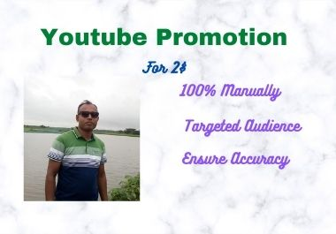 I will provide you with youtube promotion
