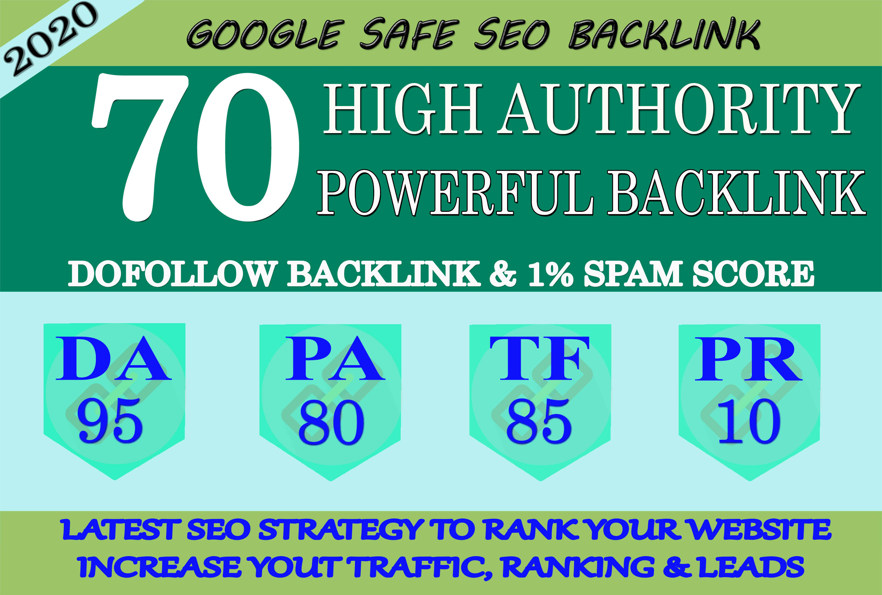 I Will Manually Do 70 High Quality PR10 BackIinks On DA-95 Sites To RANK Your Website