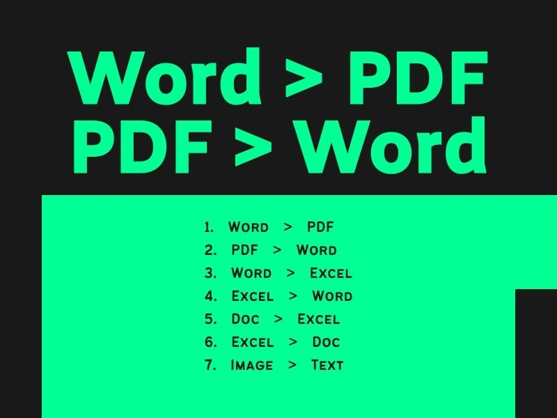 I will do word to Pdf or Pdf to word conversion