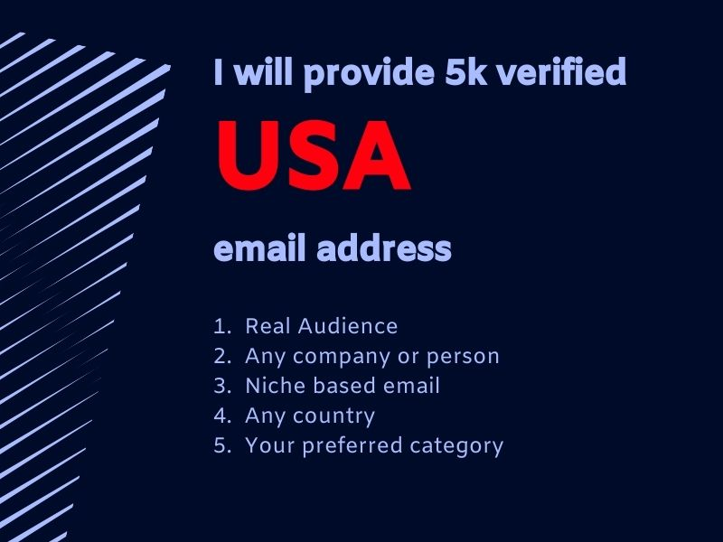 I will provide 5k verified USA email address