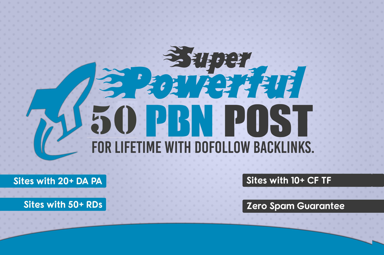 provide 50 high da pa pbn homepage backlink