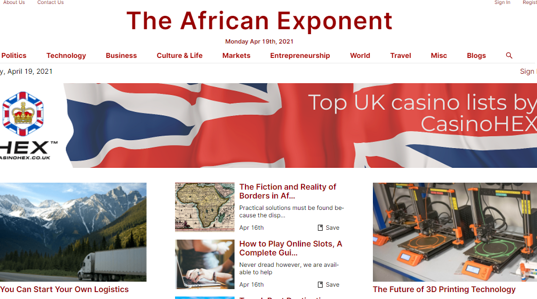 Guest Post On DR60 Google News Approved Site Theafricanexponent.com