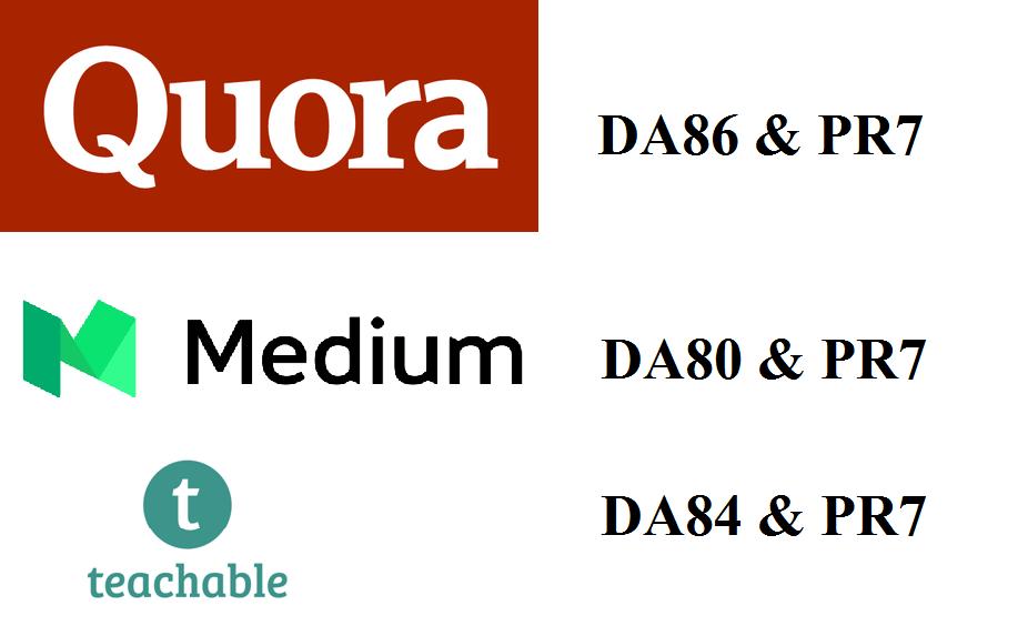 Guest Post On Medium. com,  Quora. com & Teachable. com DA80+