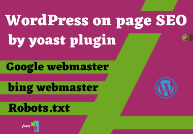 I will provide wordpress on page SEO service using yoast plugin
