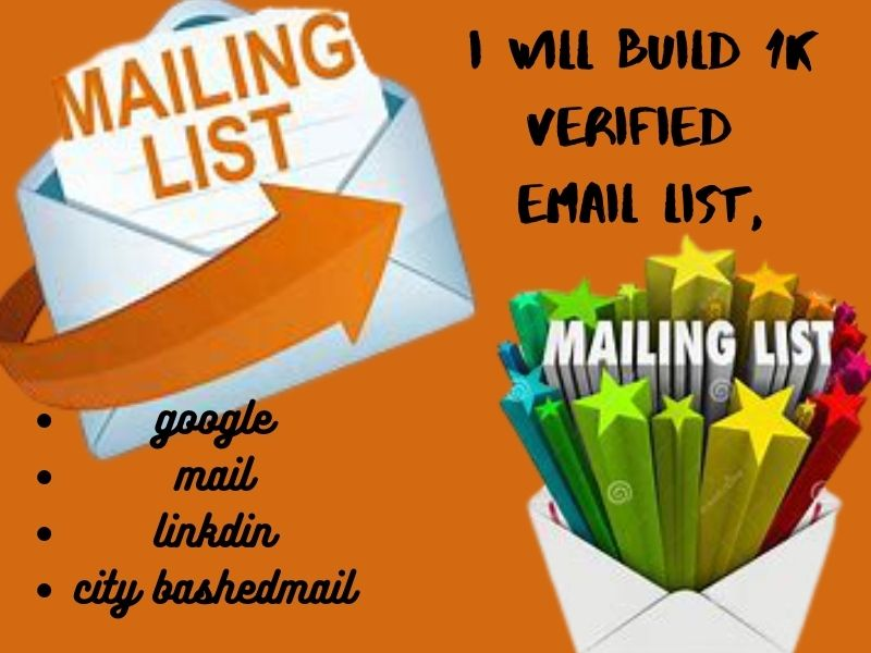 I will collect niche targeted email list for email marketing