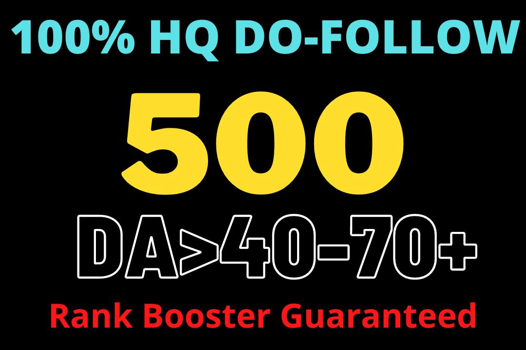 Get High Quality 500 Do-follow Backlinks High DA