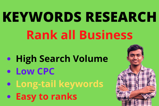 I will do perfect keyword research to rank your sites or business