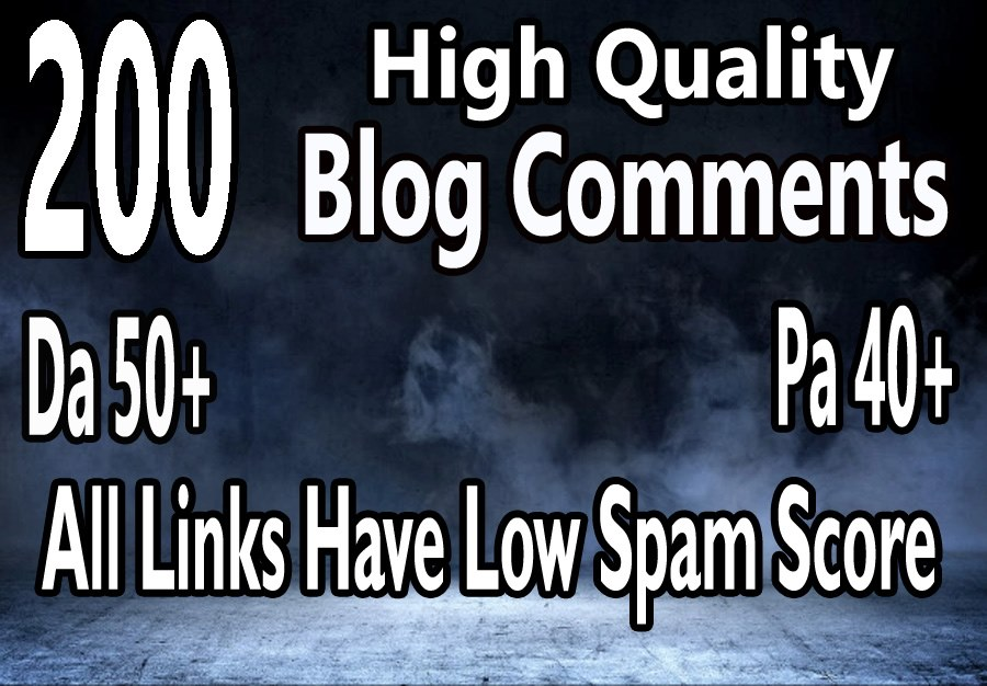 I will Provide 200 High DA PA Blog Comments Backlinks