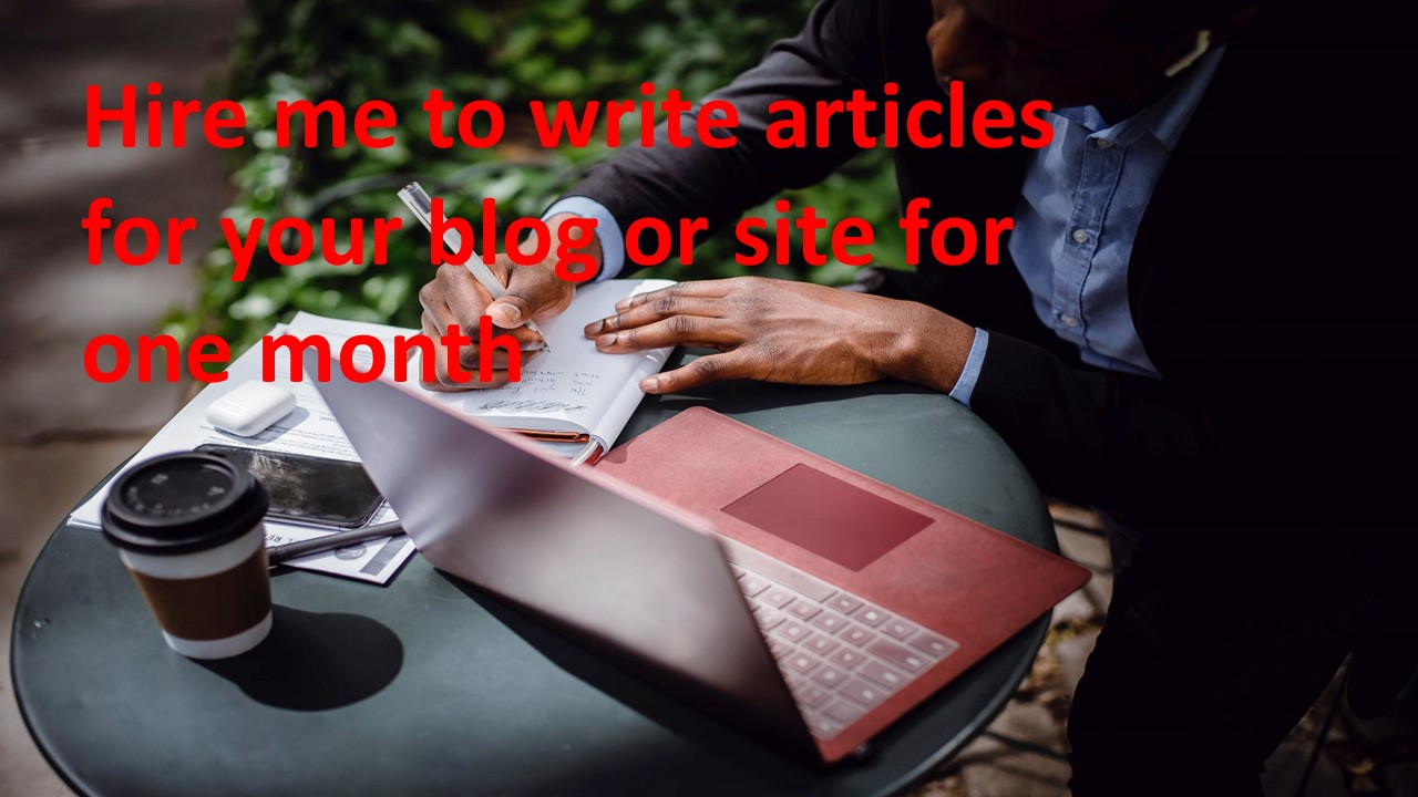 Hire me to do articles for your site or blog for a month