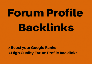 Provide 200+ Forum Profile Backlinks