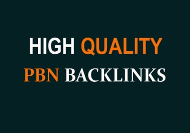 Provide 50 PBN of Highest Quality & Most Effective Links
