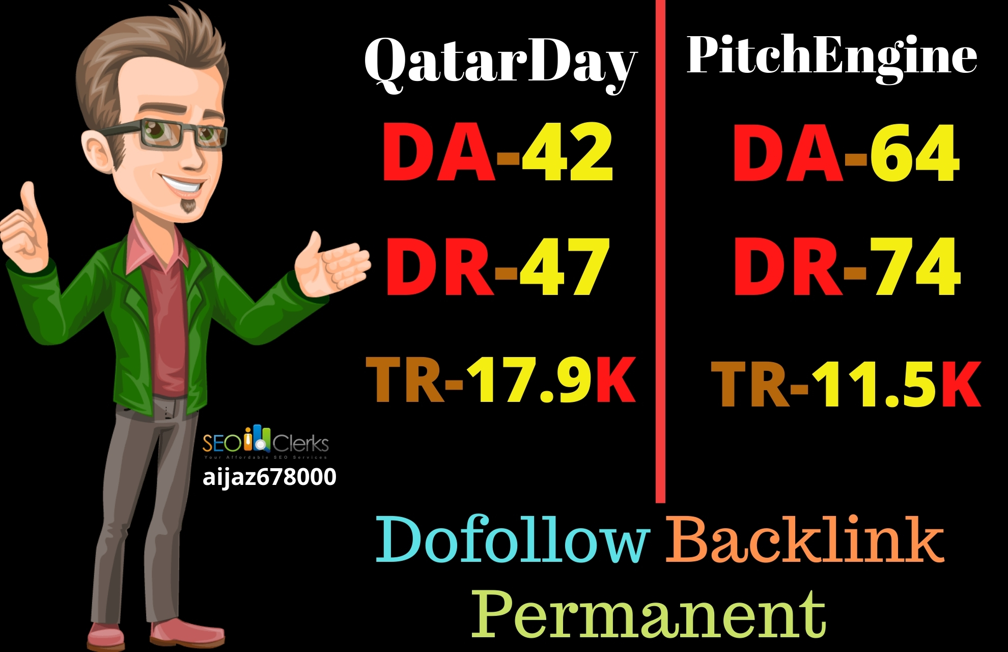 I will write and publish on high quality sites QatarDay and PitchEngine with dofollow backlinks