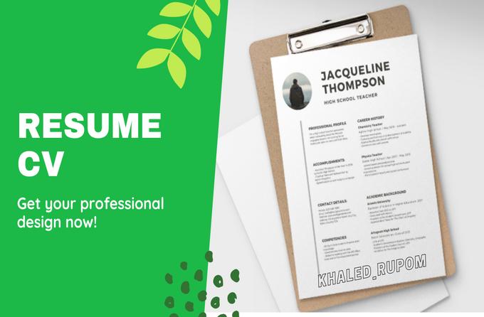 Write,  design and edit CV Resume with LinkedIn optimization
