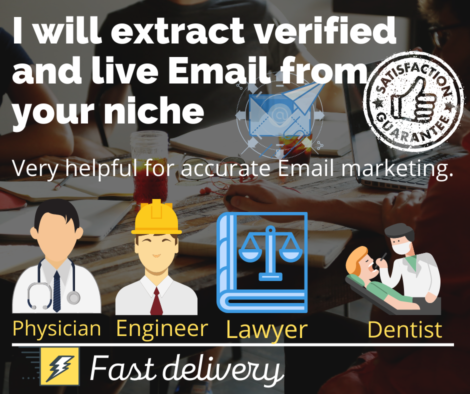 Extract 5k Email from your targeted Niche USA Physician, Engineer, Lawyer, Dentist
