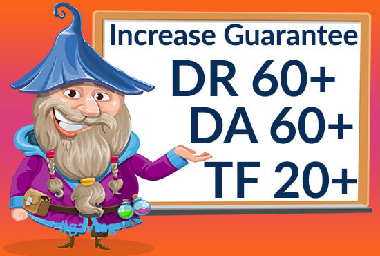 I will increase domain rating DR,  DA,  TF domain authority