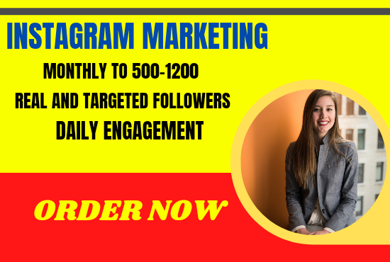 I will do organically your Instagram growth
