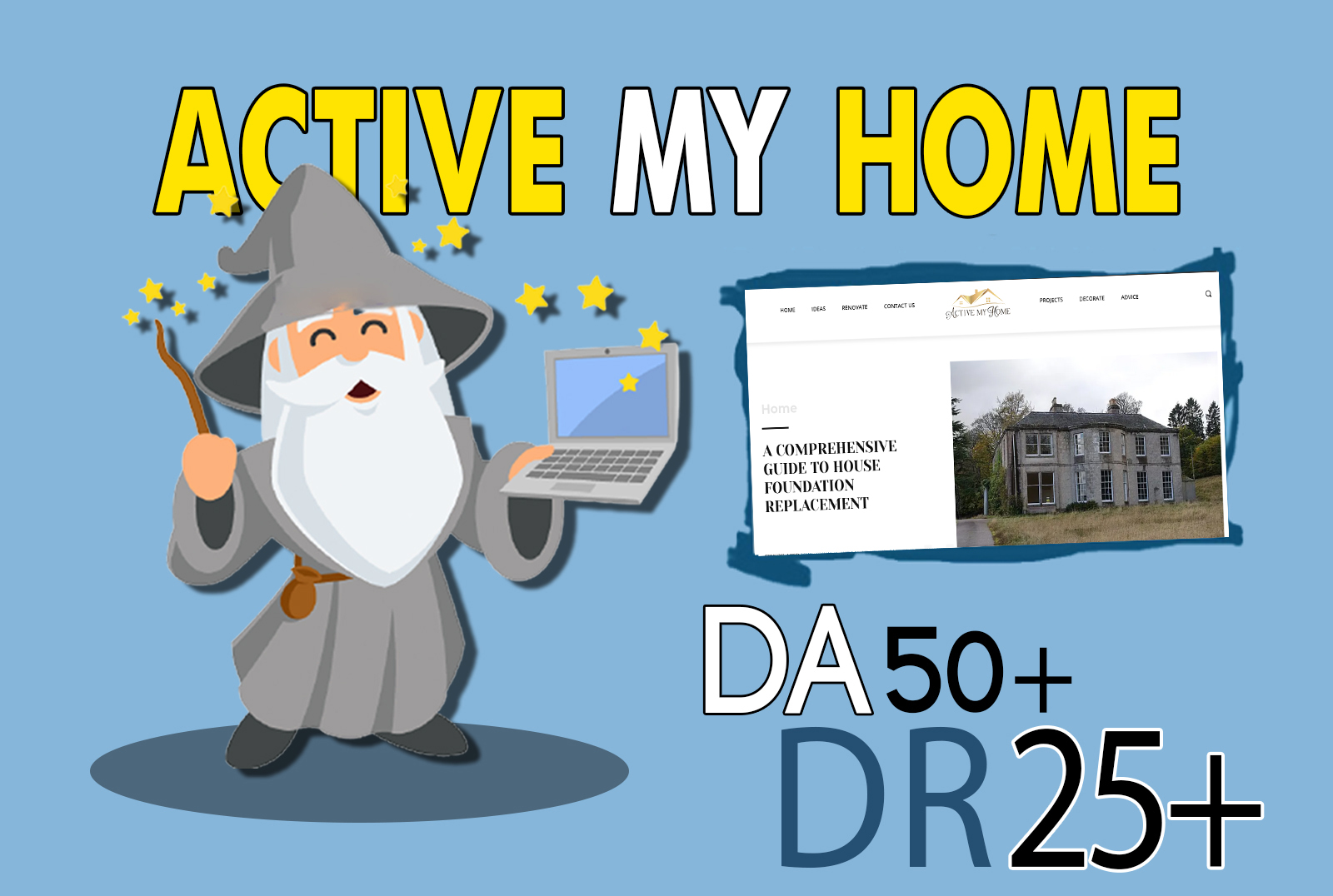 I will do guest post on activemyhome da 50 dofollow backlink