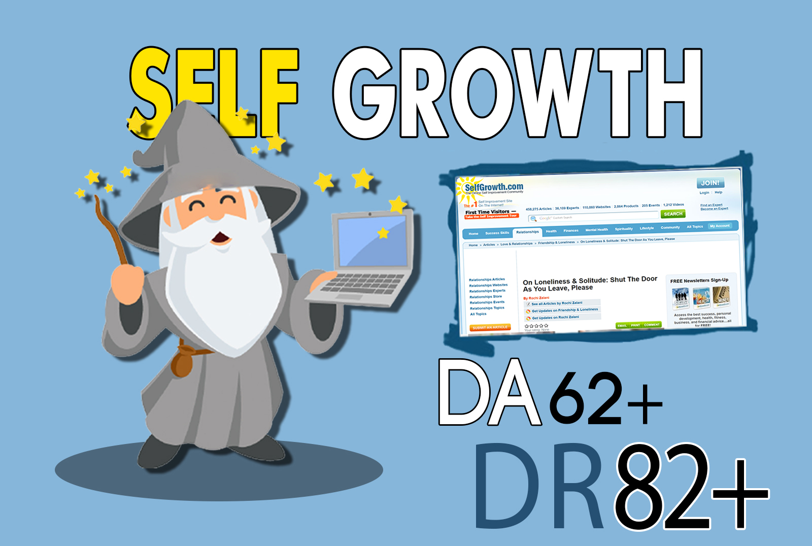 I will publish your article on Selfgrowth