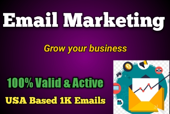 I will provide USA Based 1K Verified Emails