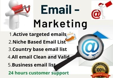 I will list 1k USA Targeted Emails for Your Target Market and Your Business