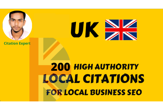 I will create UK top local citations listing for local SEO