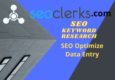 I will provide perfect one page SEO keyword research and data analysis