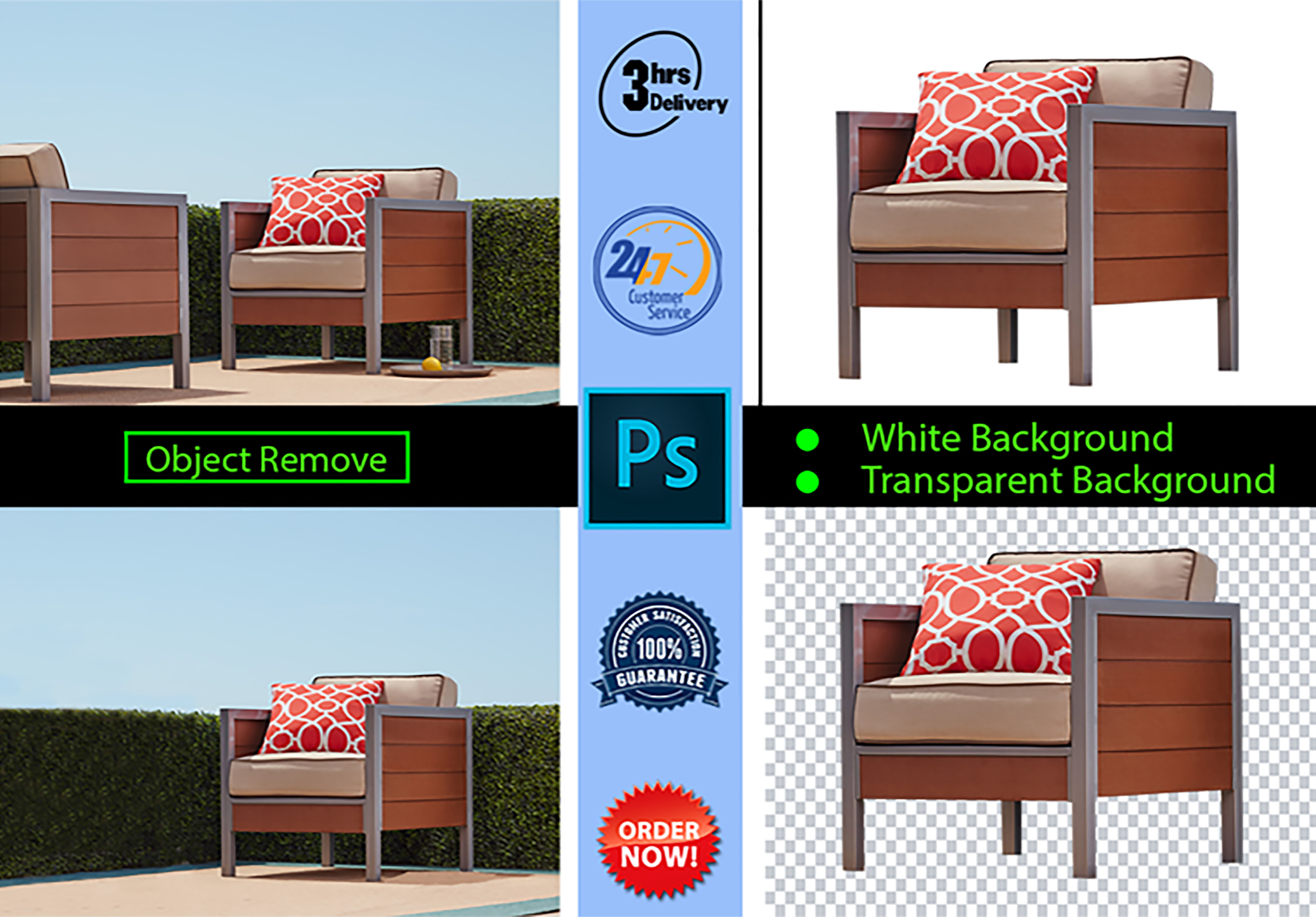 25 photo cut out or remove background from amazon product photo image