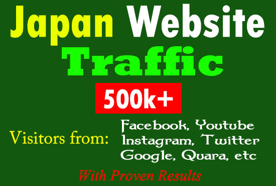Google Search Ranking SEO Friendly Japan Website Traffic Real And Unique Visitors