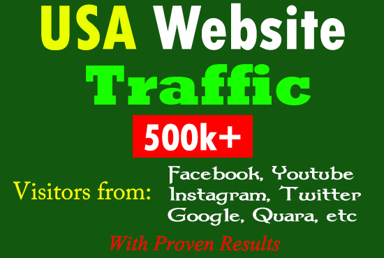 Google Top Page Ranking USA Website Traffic Visitors from Facebook Twitter Youtube Quara Reddit Bing