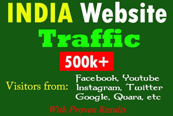 Google Top Page Ranking INDIA Website Traffic,  Visitors from Facebook Twitter Youtube Quara Reddit