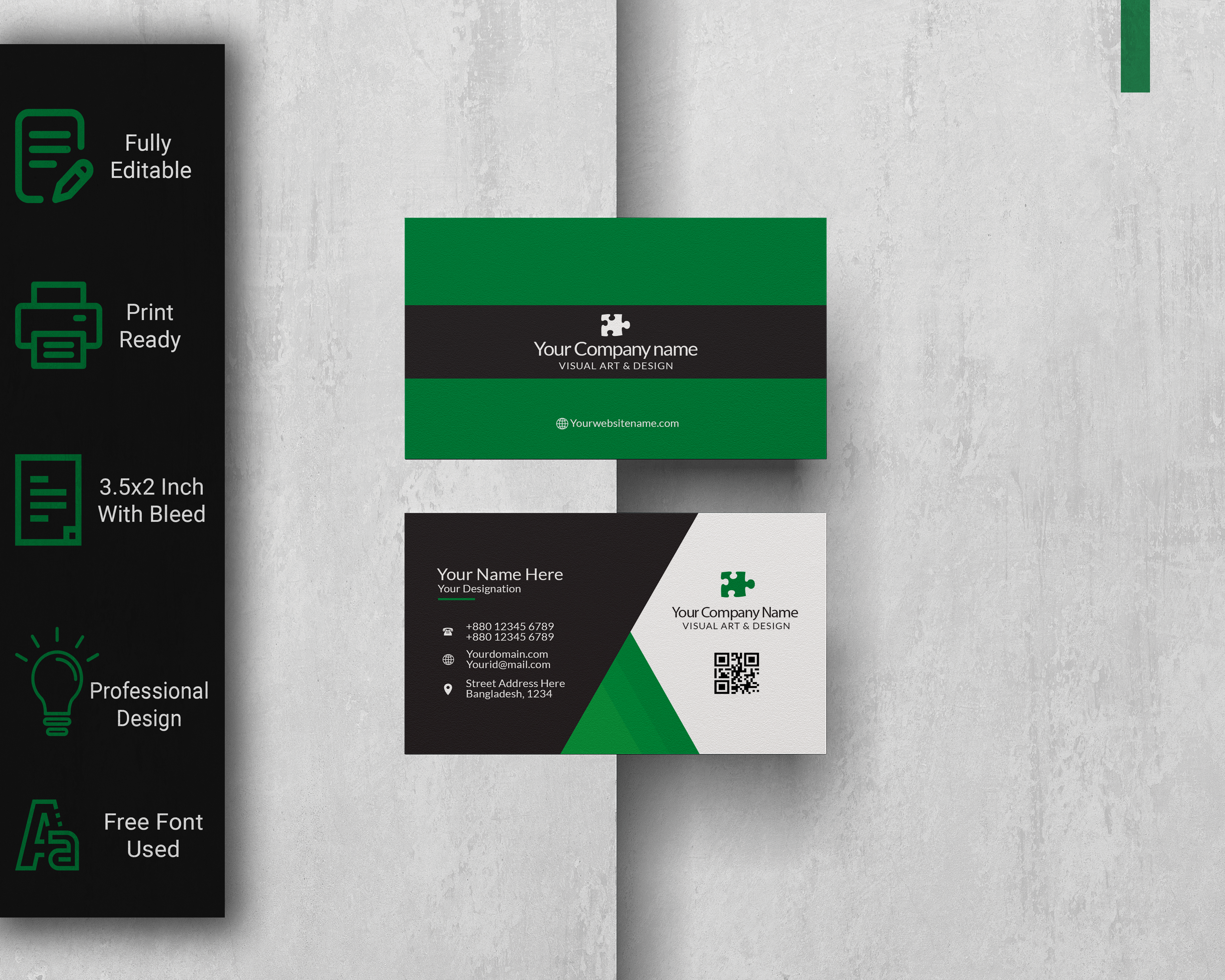 I Will Design Professional and Premium Business Card With Two Concept