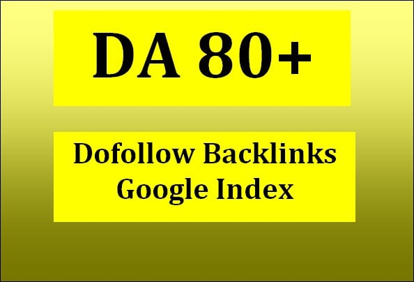 I will do high quality da 80 SEO guest and dofollow backlinks
