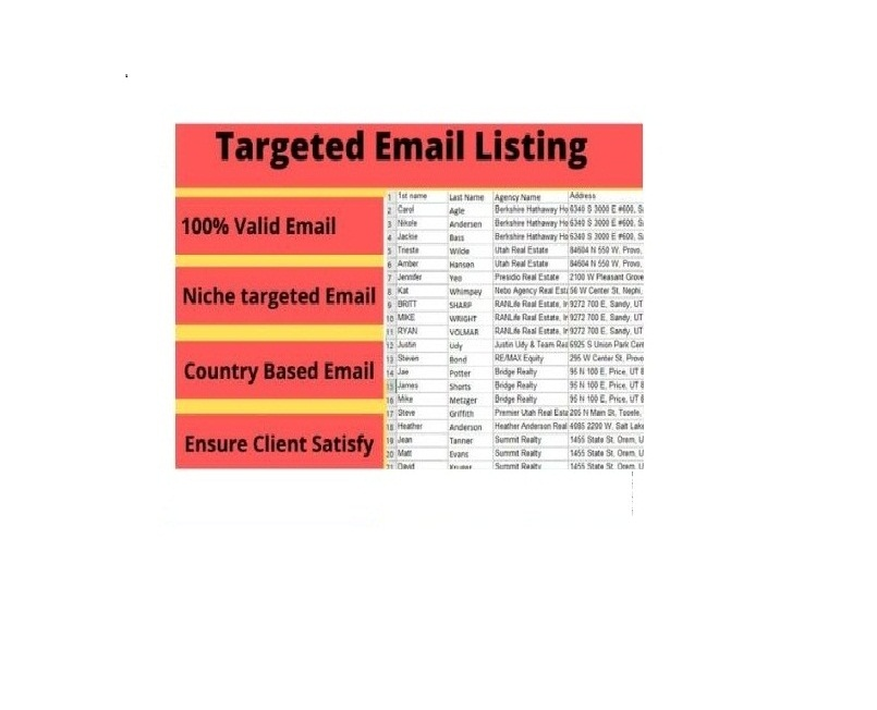 I will provide your email list collection
