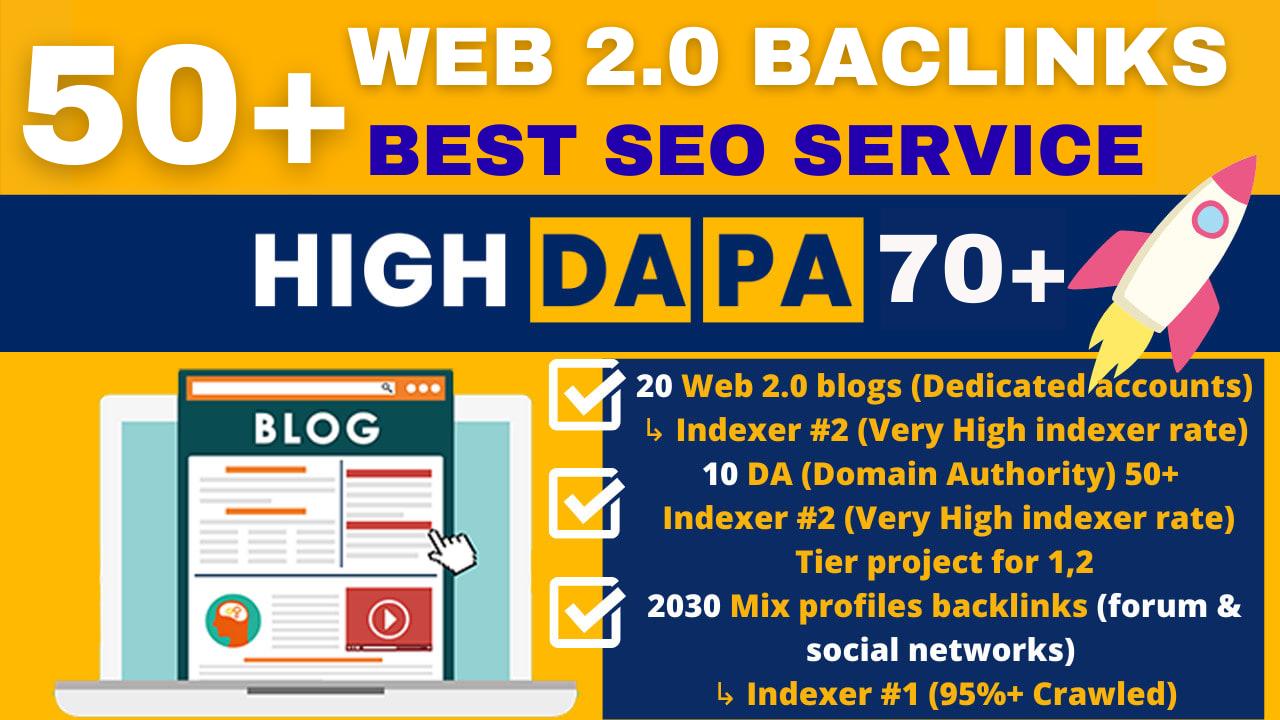 50+ High Domain Authority Web 2 0 Blogs SEO Backlinks Service For Boost Google Ranks