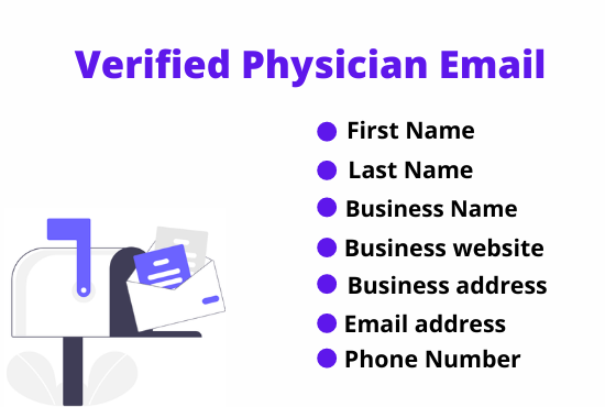I will provide 1K USA based verified physician emails list